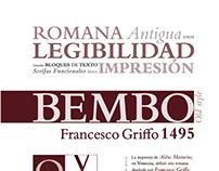 Espécimen tipográfico Bembo