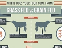 Grass Fed vs. Grain Fed Infographic