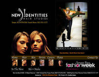 New Identities Salon Studio Web Design