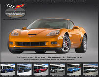 Corvette Shop Tampa Web Design