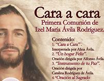 Disco Cara a Cara-1era Comunión Izel Ávila