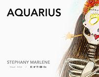 AQUARIUS · Miss Catrina 13 Zodiac Signs Collection