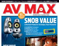Redesign of AV Max magazine