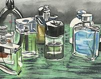 Cologne bottles