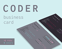 Coder / Developer Business Card Template