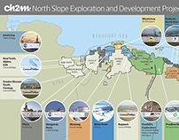 CH2M North Slope Exploration Projects Map