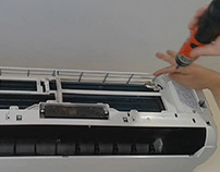 Tháo lắp máy lạnh Midea