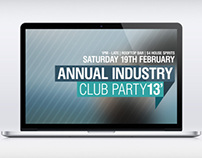 Annual Industry Club Party Flyer