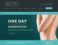 Plastic Surgeon Website Mockup