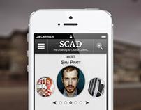 SCAD.edu Mobile Application Design