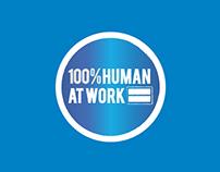 100% Human At Work - identity