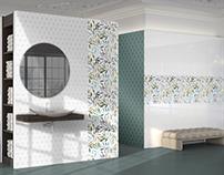 Design ceramic tiles and bathroom decor