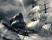 Ship and Sharks