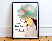 """""""La Noche Árabe"""" cartel y programa de mano"""