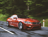 RED BMW /// CGI