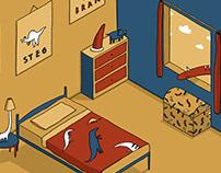 Dinosaur Bedroom