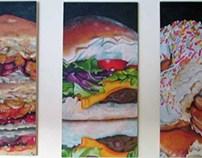Comfort Food Acrylic Paintings