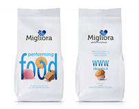 Migliora - Performing Food. Packaging identity.