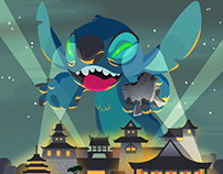 Stitch invades the Japan Pavilion at EPCOT