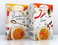 Soups' packaging design | Дизайн упаковки супов