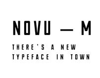 NOVU — M Free Font
