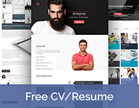 Free Personal CV/Resume Web Template