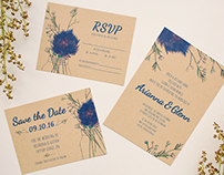 Arianna & Glenn's Wedding Invitation Set