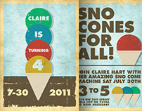 Sno Cone Birthday Invitation