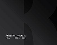 Large format Klika magazine