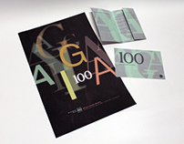 AIGA 100 Years Promo: Poster, Brochure and Postcard