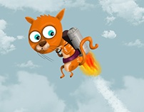 Sweet flying cat