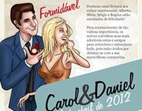 Convite de Casamento Carol & Daniel