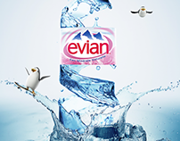 Evian- life campaign face -01 & 02  - 2013