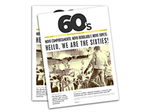Editorial Design - Newspaper about rock songs '60s