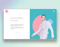 minimalistic landing page