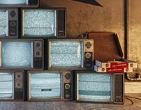 // Vintage TV Pile // CGI