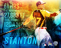 Giancarlo Stanton 2016 Home Run Derby Stats