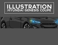 Hyundai Genesis Coupe Illustration