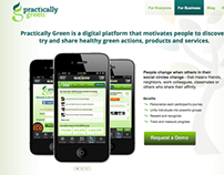 Practically Green | Website and iPhone App Design