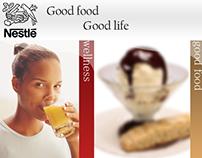 Дизайн сайта для Nestle