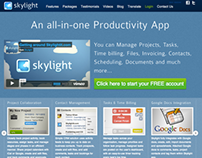Skylight - Business Productivity App - Website
