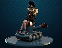 The girl in tank