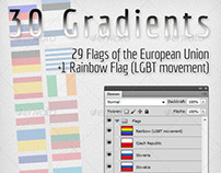 30 Gradients - Flags of the European Union