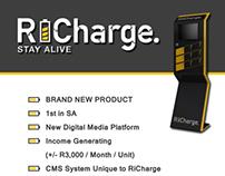 Flyer, brochure & businesscard design - RiCharge