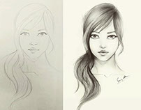 Girl - Pencil drawing
