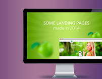 Some landing pages 2014