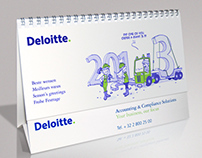 Deloitte annual cartoon calender 2013