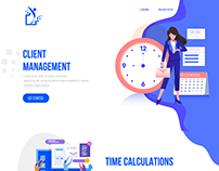 Landing Page design for Employee & Project Management