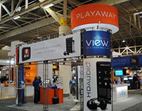 Playaway Tradeshow Booth