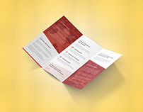 Tri-Fold-Brochure (Size:A4 & US LETTER)
